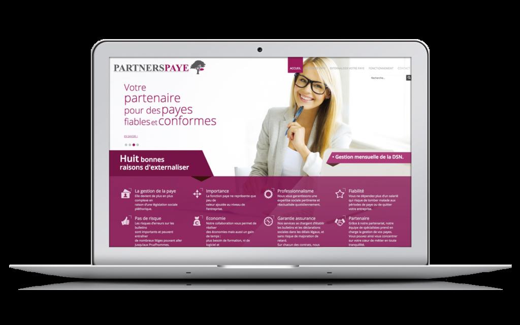 Site internet sur portable de Partnerspaye