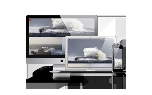 Site internet pour Saveriu à Biarritz