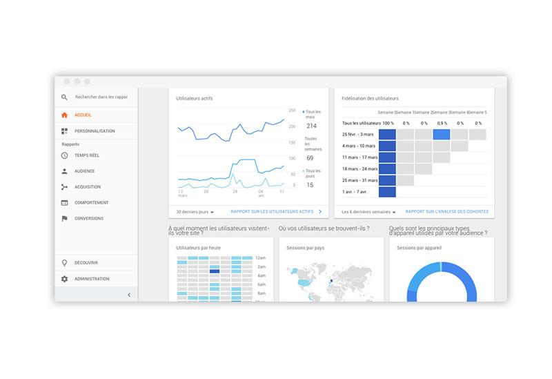 onePage : statistique de visite mensuel