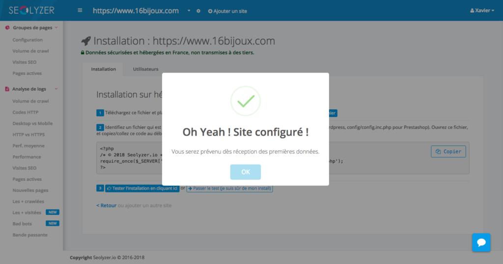 Seolyzer.io - Tester l'installation
