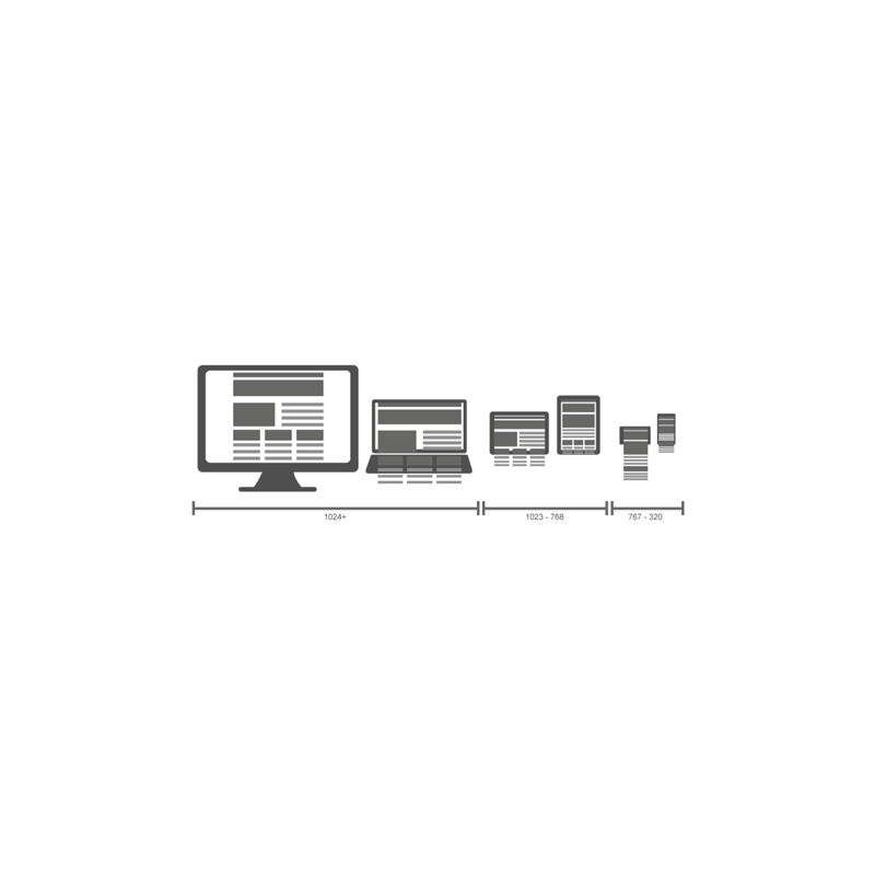 Illustration graphique Responsive design
