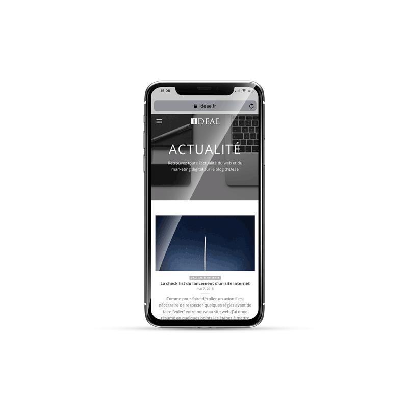 Site iDeae sur iPhone X
