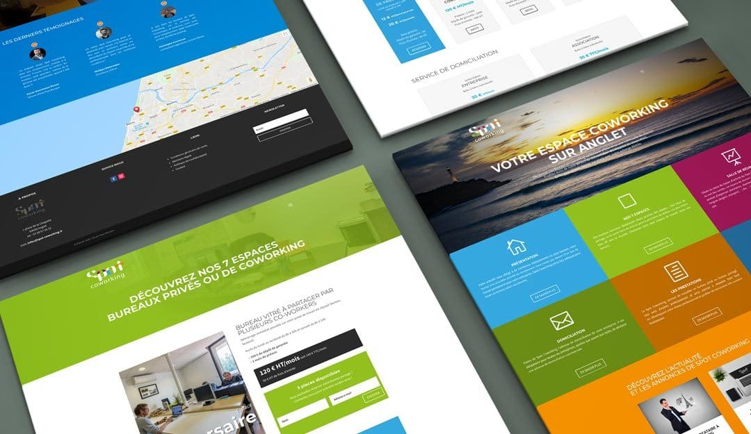 Nouveau site WEB – Spot Coworking à Anglet
